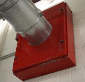 Brandschutzvorrichtung für Absauganlagen, Brandschutzklappe